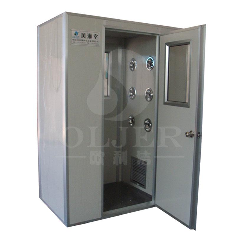 2,风淋室电路安装在进入门的上方箱体内,打开面板门锁即可维修更